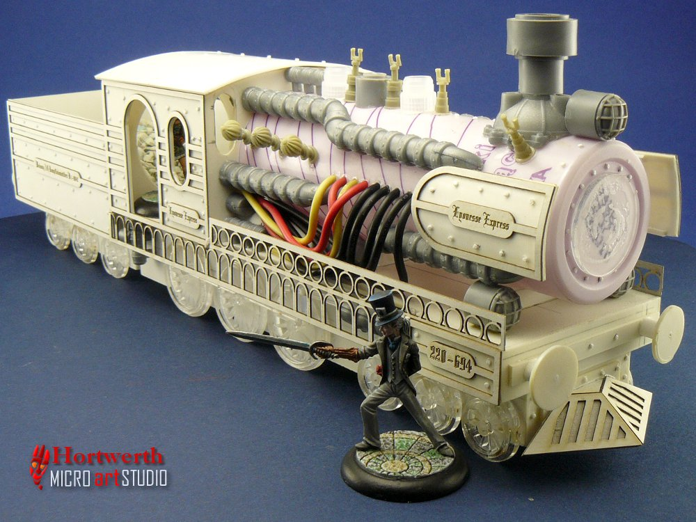 Hortwerth Steampunk locomotive WIP 1